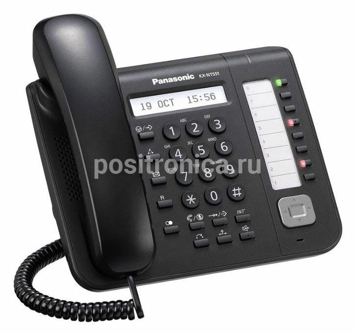 Системный телефон цифровой IP Panasonic KX-NT551RU белый