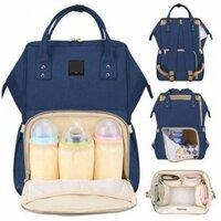 47d8b8e0b507 Сумка рюкзак для мамы Maitedi с креплениями для коляски и USB темно синяя