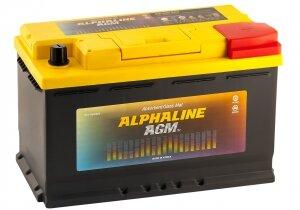 Автомобильный аккумулятор AlphaLINE AGM 80R 800А обратная полярность 80 Ач (315x175x190)