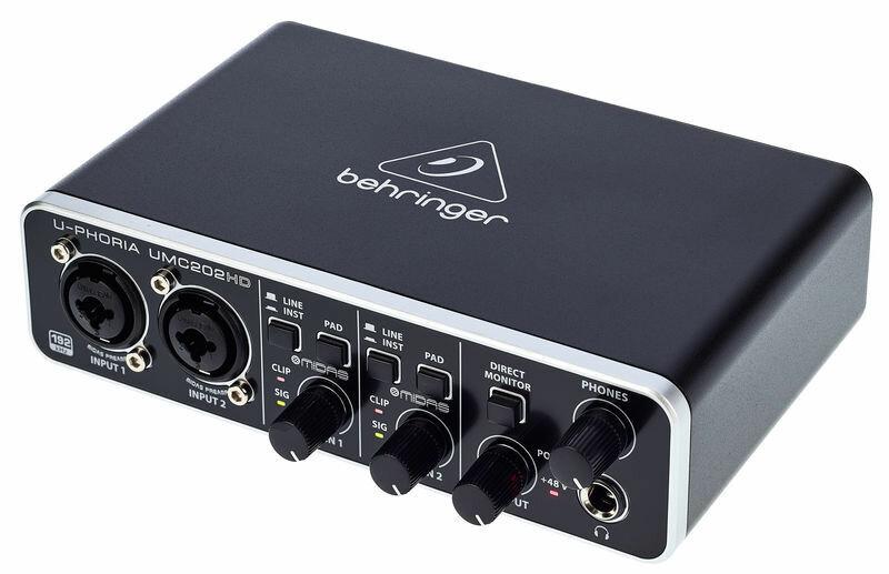 Аудиоинтерфейсы для домашней студии Behringer UMC202HD