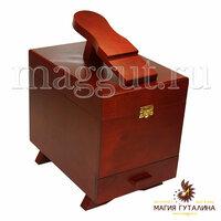 Магия Гуталина Ящик деревянный с подставкой для ноги для обувной косметики и аксессуаров