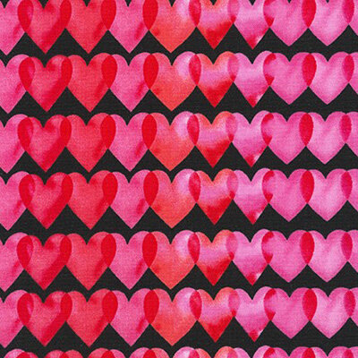 Ткани для пэчворка PEPPY LOVE фасовка 50 x 55 см 146±5 г/кв.м 100% хлопок AMZ-16461-2 BLACK
