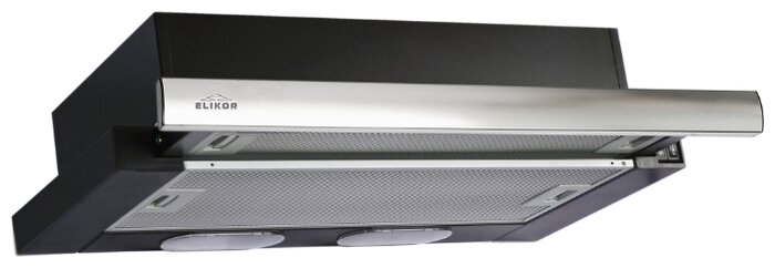 Вытяжка встраиваемая ELIKOR Интегра 60П-400-В2Л, черный / нержавейка