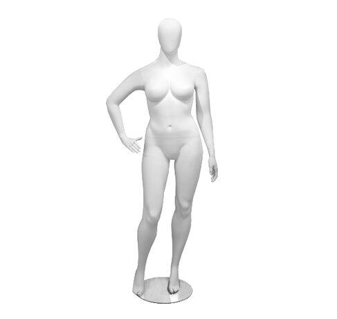 Женский манекен большого размера в полный рост, правая рука на талии - Madame-M-06