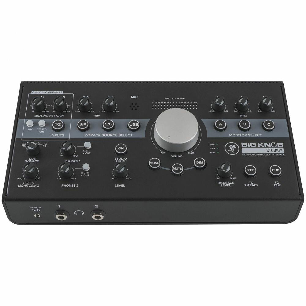 MACKIE Big Knob Studio+ USB аудио интерфейс 2x4 и контроллер для мониторов 4x3, 192 кГц/24 бита