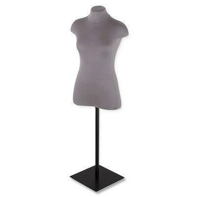 Манекен женский (торс) масштабный мягкий с подставкой, размер 44, цвет: серый