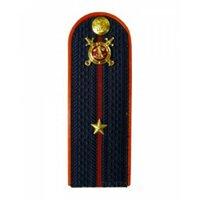 Погоны Полиция с фурнитурой темно-синие (Младший лейтенант)