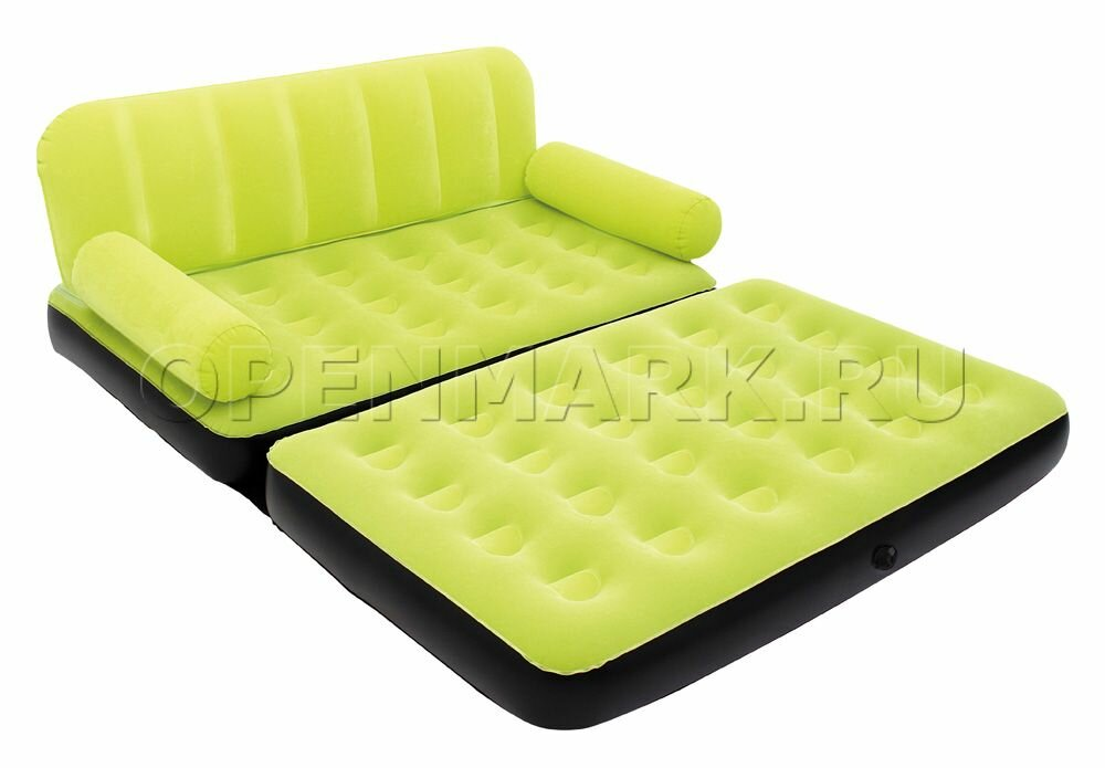Двухместный надувной диван BestWay 67354 Multi-Max Air Couch (зелёный, без насоса)