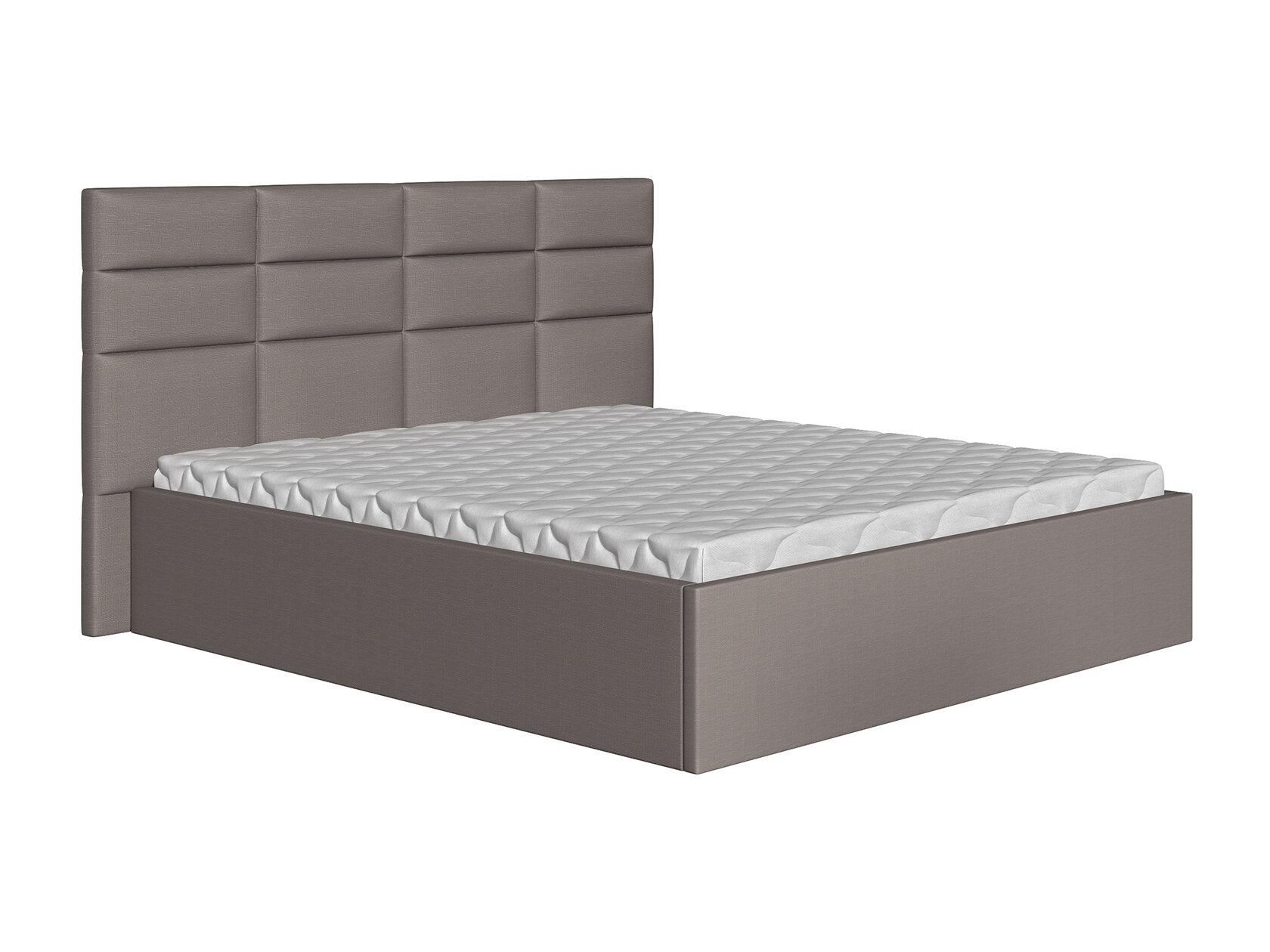 Двуспальная кровать Первый Мебельный Кровать Коста Серый, 160х200