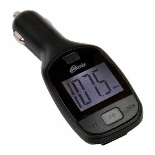 Автомобильный FM-модулятор Ritmix FMT-A705 черный SD/MicroSD USB PDU (15118383)