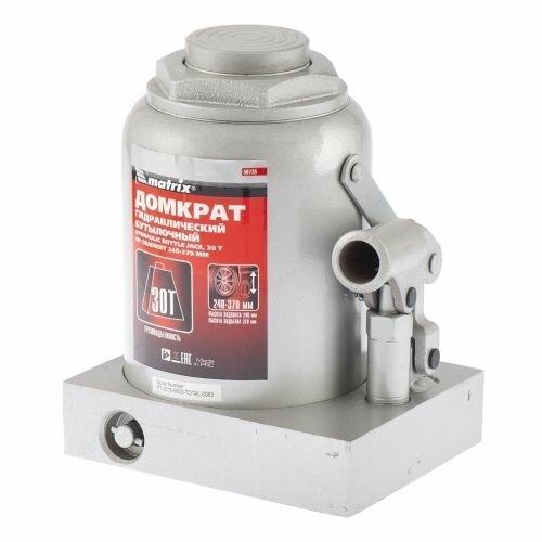 Домкрат MATRIX 50735 30т гидравлический бутылочный 240-370мм