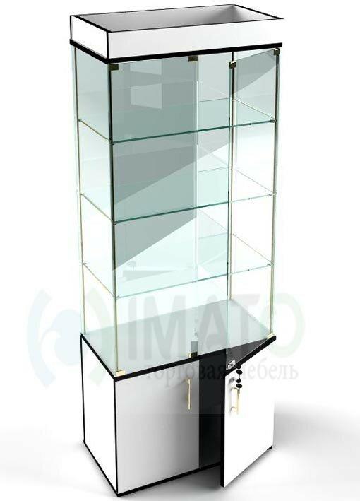В-53 Витрина стеклянная классическая с накопителем