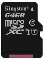 Карта памяти microSDXC 64Gb Class10 Kingston (SDCS/64GBSP)