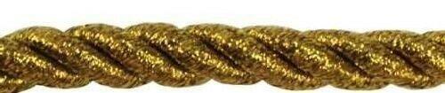 Шнур витой металлизированный, цвет: золото, 8 мм x 50 м, арт. POP-028