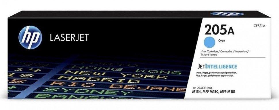 CF531A (205A) оригинальный картридж HP для принтера HP Color LaserJet Pro M180/ M181 голубой, 900 страниц