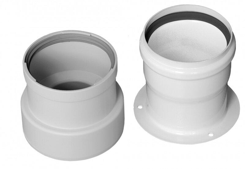Переходной комплект Baxi на раздельные трубы полипропиленовый, диам. 80 мм, HT(арт. KHG71405911)