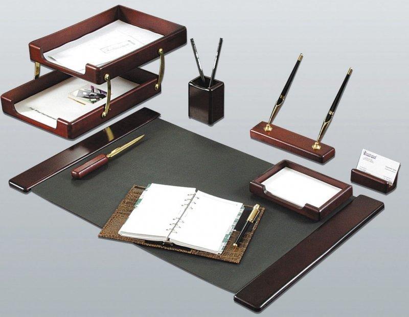 Набор настольный GOOD SUNRISE 7 предметов, с 2 ручками, цвет: красное дерево