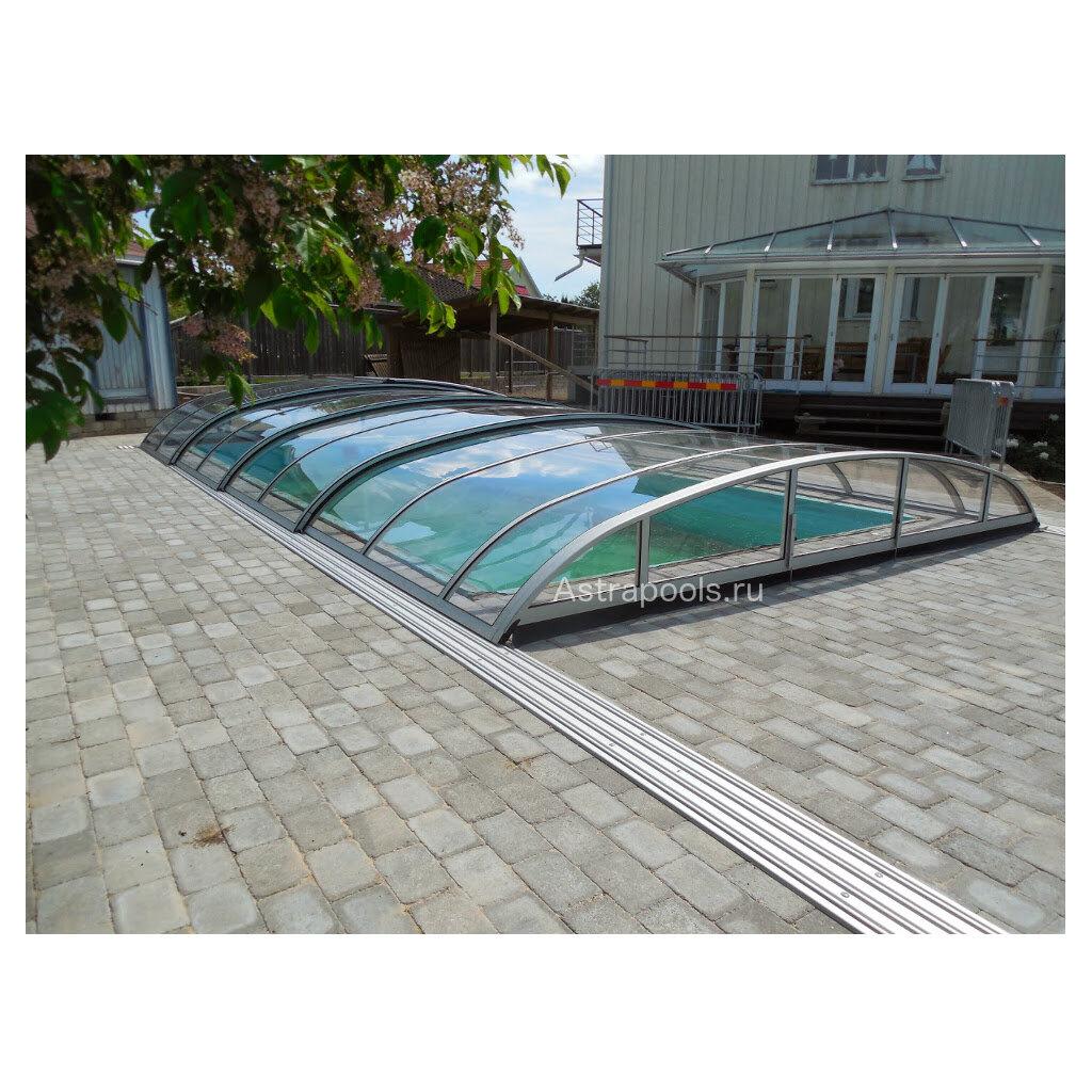 """Павильон для бассейна модель """"Flair"""" 8,59х4,00х0,70м. Монолитный поликарбонат."""