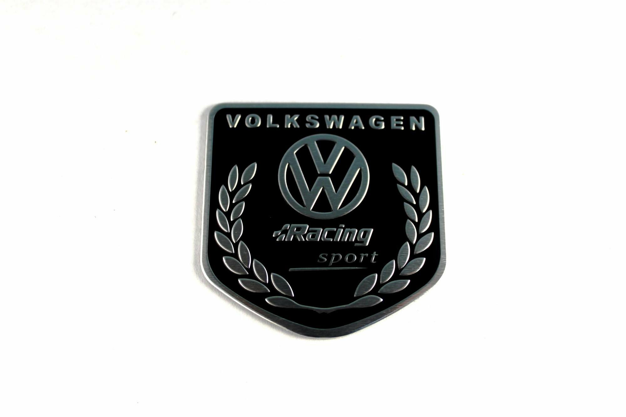 Табличка volkswagen черная