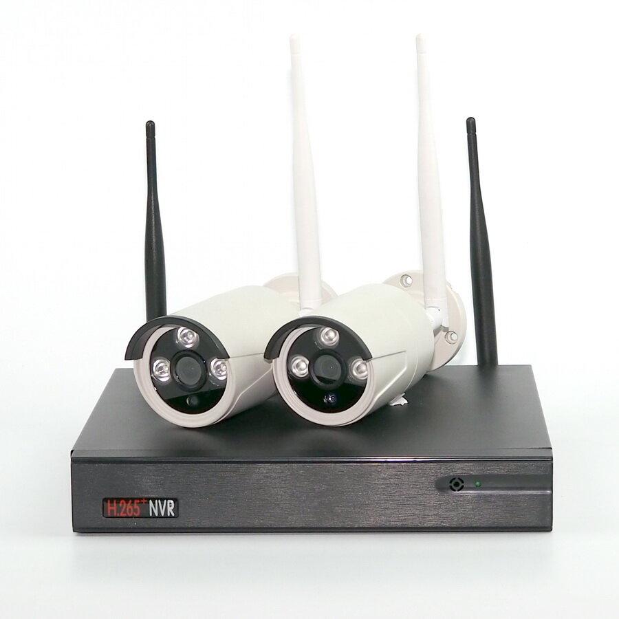 ALFA Комплект IP видеонаблюдения ALIP0202 c беспроводным WIFI подключением видеокамер