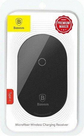 Модуль приема беспроводной зарядки Baseus Microfiber QI Wireless Charging Receiver Type-C black