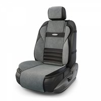 Накидка на сиденье AUTOPROFI Multi Comfort, ортопедическая, велюр, чёрный/темно-серый