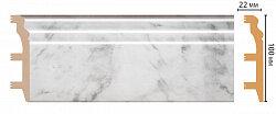 Плинтус напольный из полистирола уплотненного Декомастер D232-79