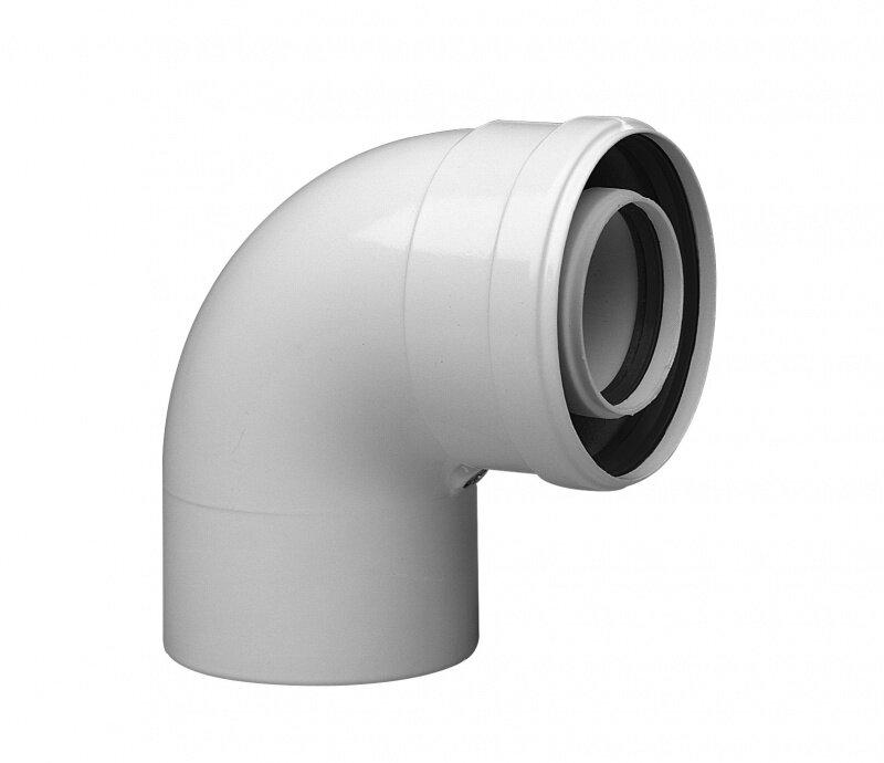 Коаксиальный отвод Baxi полипропиленовый 87 , диам. 60/100 мм, HT