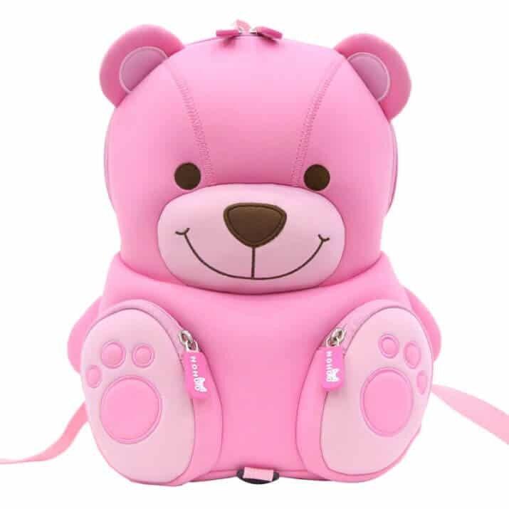 Рюкзак Nohoo Медвежонок розовый (3-5 лет)