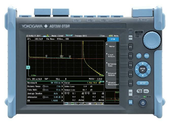 Рефлектометр Yokogawa AQ7280+ AQ7282A(SM, 1310/1550 нм, 38/36 дБ, FC-адаптер)