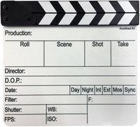 Киносклад CLBWENG Кинохлопушка на английском языке с черно-белым верхом