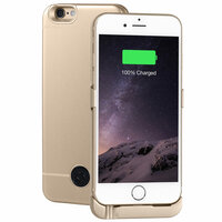 Чехол Аккумулятор Для iPhone 6, 6S, Gold, 3000 мАч, INTERSTEP IS-AK-PCIPH6GOL-000B201