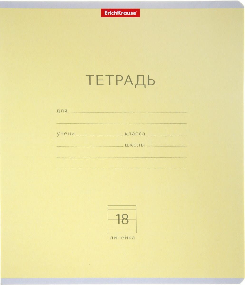Тетрадь 18 листов в линейку Полиграфика