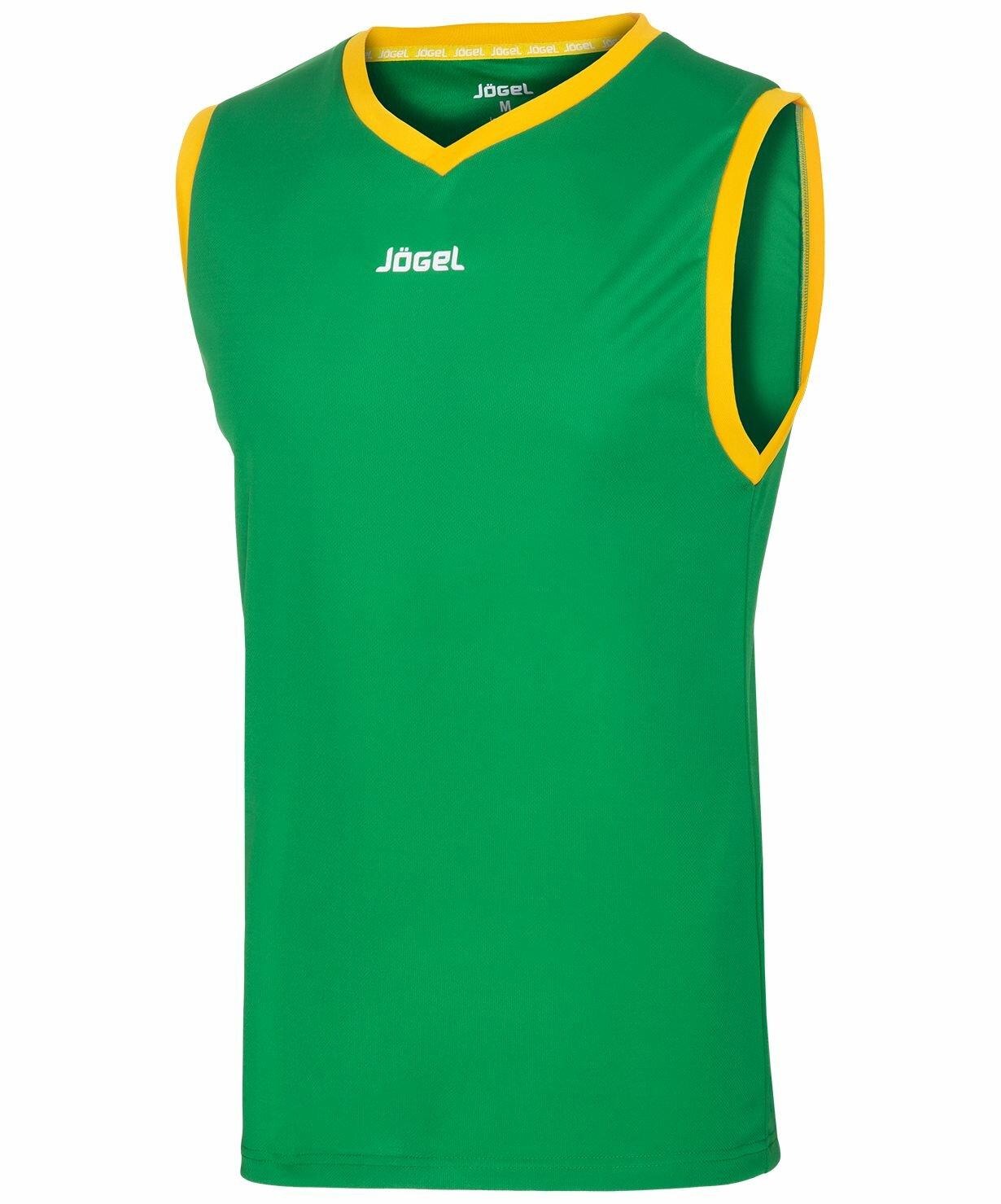 90aade88 Майка баскетбольная JBT-1020-034, зеленый/ желтый
