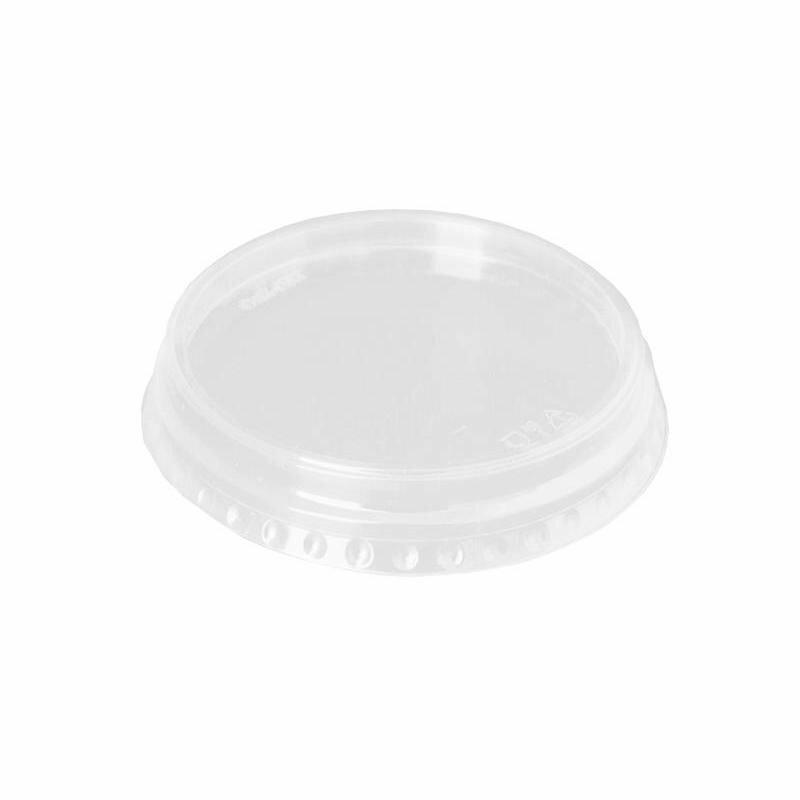Крышка для стакана пластиковая прозрачная 95 мм 50 штук в упаковке