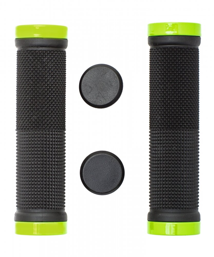 Грипсы с зажимами Vinca sport H-G 119 black/light green