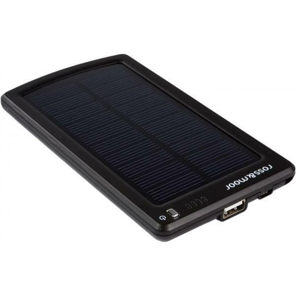 Универсальный внешний аккумулятор Ross&Moor MP-S3000B 3400 мАч черный Встроенная солнечная батарея 5В/250мА Выход 5В/1А