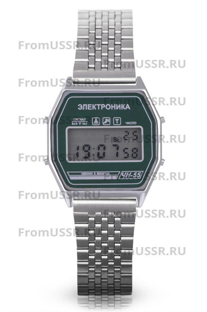 Часы Электроника ЧН-55/1186 Стальной браслет мелкое звено