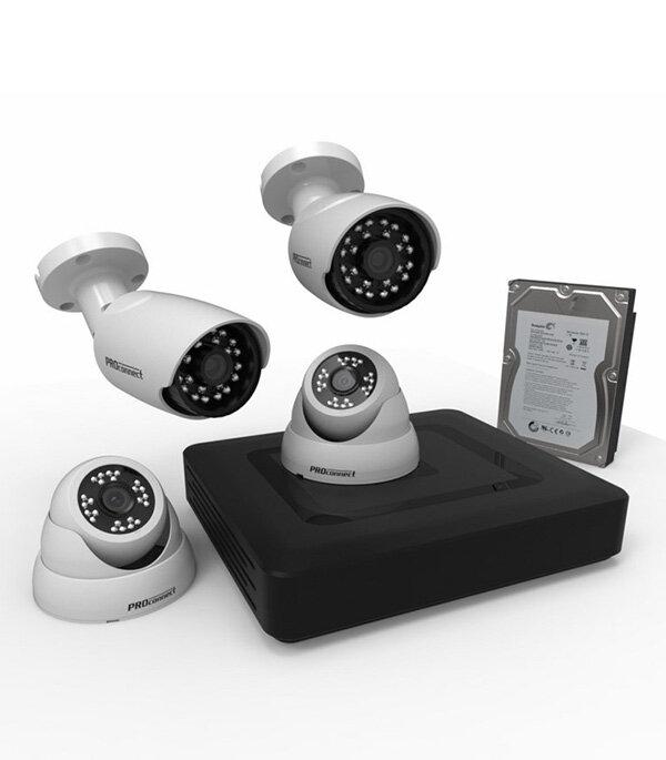 Комплект видеонаблюдения Proconnect стандарта AHD-M 2+2 камеры с жестким диском