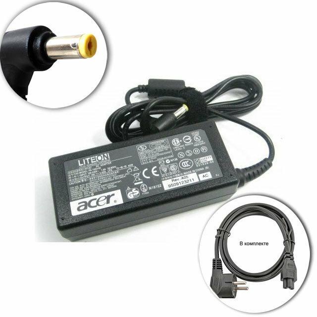 Для Aspire 5742G-483G32Mikk Acer Зарядное устройство блок питания ноутбука (Зарядка адаптер + сетевой кабель/ шнур)