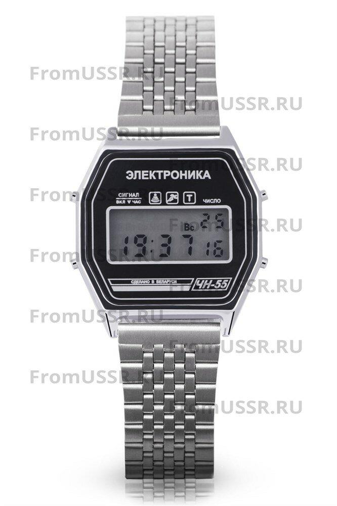 Часы Электроника ЧН-55/1188 Стальной браслет мелкое звено