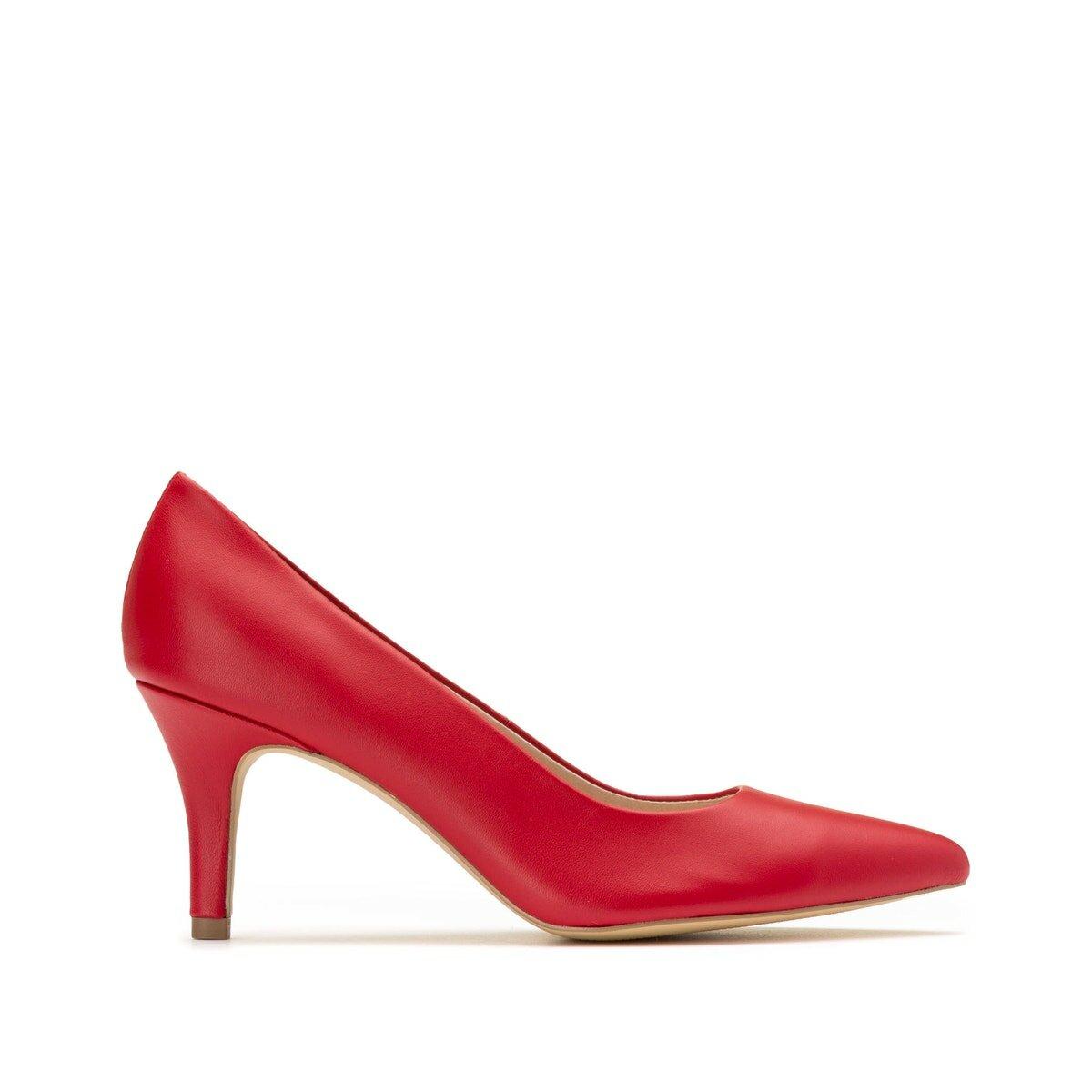 Туфли La Redoute Кожаные на высоком каблуке 37 золотистый