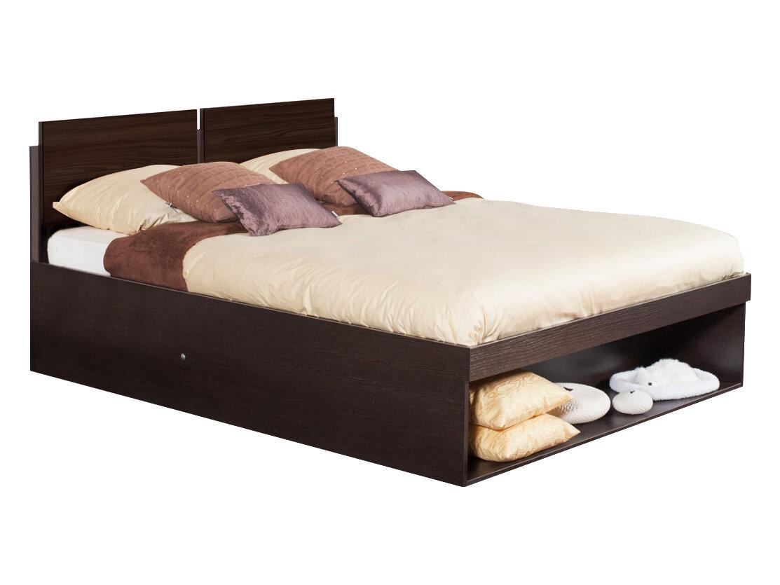 Двуспальная кровать Глазов HYPER (спальня) Кровать Венге, 1800 Х 2000 мм