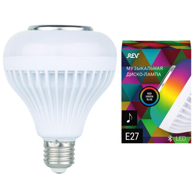 лампа REV музыкальная LED RGB E27 с Bluetooth колонкой и пультом