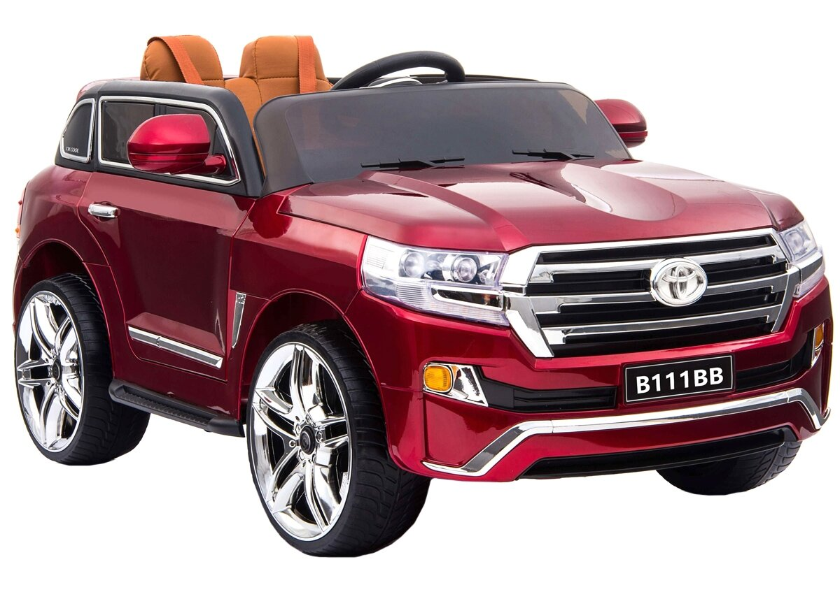 Электромобиль River Toys Toyota B111BB с дистанционным управлением - вишневый глянец