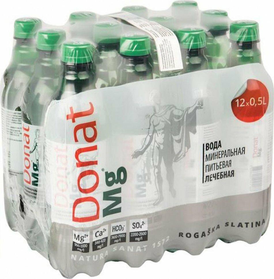 Вода минеральная Donat Mg / Донат газированная Пэт (0,5л* 12шт)