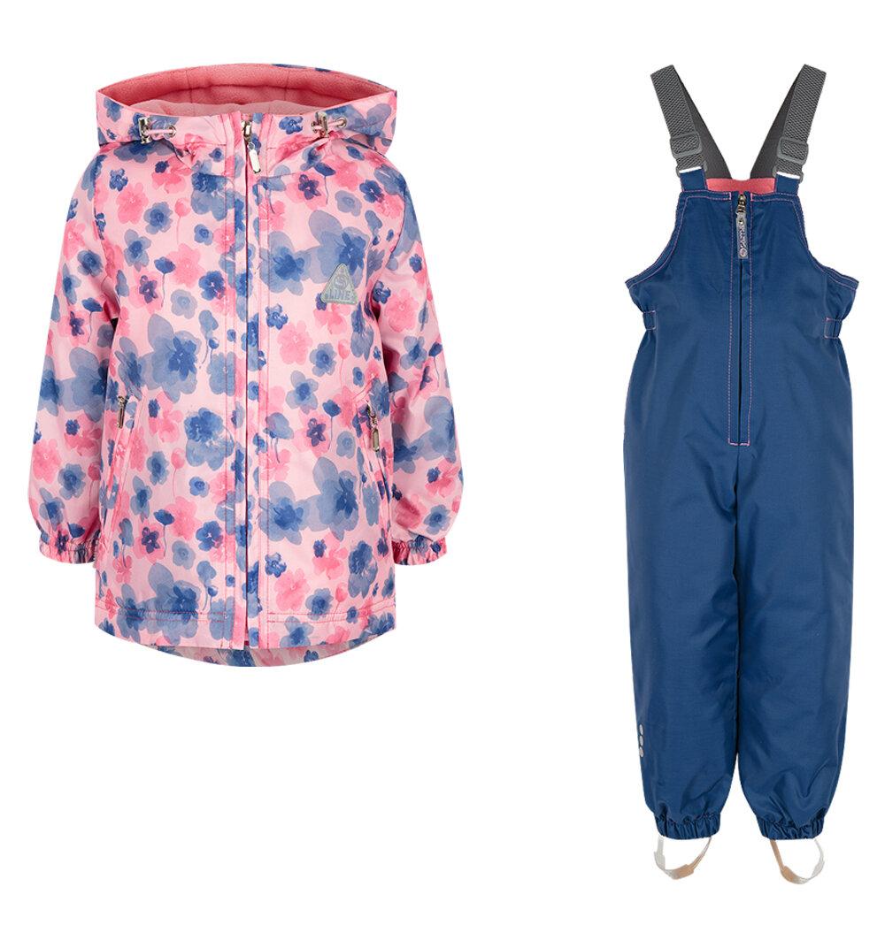 Комплект куртка/полукомбинезон SAIMA цвет: розовый/синий, для девочек, размер 110-116