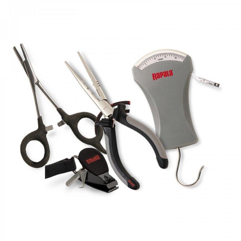 Набор рыболовных инструментов RAPALA 10 (плоскогубцы, щипцы, безмен, кусачки)