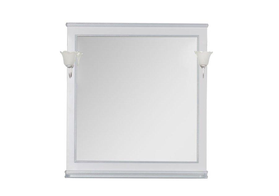 Aquanet Зеркало Валенса 90 (180040) белый кракалет/серебро