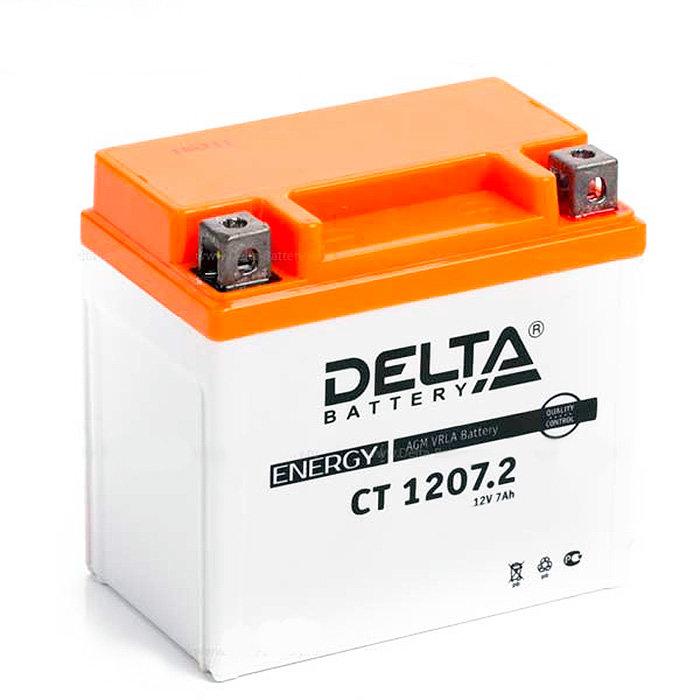 Аккумулятор для скутера, мотоцикла, квадроцикла DELTA CT1207.2 (YTZ7S) DELTA-CT1207.2